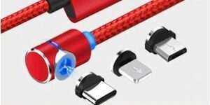Magnetyczny kabel UBS MicroUsb, ładowanie telefonu, kątowy, magnetyczny, 90 stopni, 0-360 stopni, elastyczny, giętki, smartphone