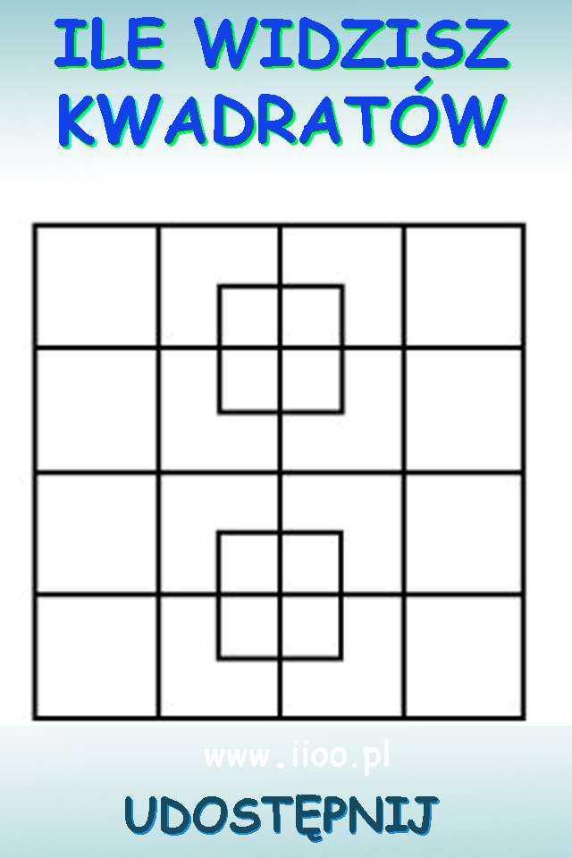 zagadka policz kwadraty