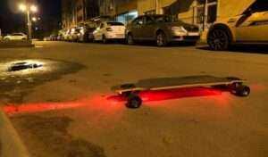 lampka LED rower, hulajnoga, deskorolka, plecak, sport, turystyka